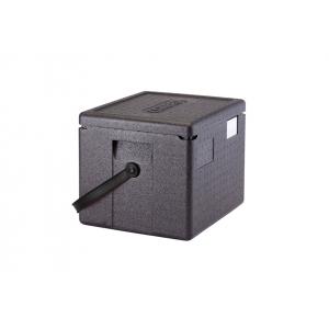 Контейнер изотермический L 39см w 33 см h 31,6  см 22,3 л с верхней загрузкой, полипропилен черный, пенный наполнитель