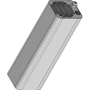 Облучатель закрытого типа (рециркулятор) ультрафиолетовый, производительность  60м3/ч, 1 лампа 16Вт