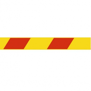 Скотч 45ммх36м 45мкм красная/жёлтая полоса