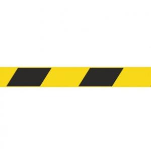 Скотч 45ммх36м 45мкм чёрная/жёлтая полоса