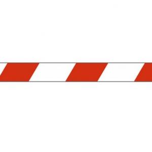Скотч 48ммх36м 45мкм красная/белая полоса