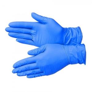 Перчатки нитриловые синие 3г (р.L)