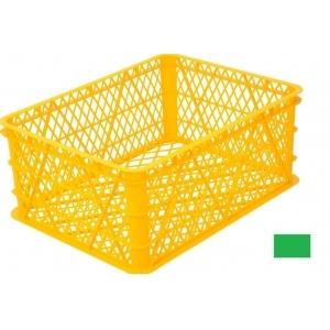 Ящик L 43см w 33см h 18см ягодный перфорированный, пластик зеленый (Уценённое)