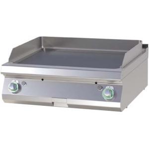Гриль-сковорода газовая, 2 зоны, поверхность гладкая стальная, настольная, пьезоподжиг, магистральный газ