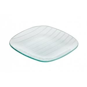 Тарелка квадратная L 20см w 20см Corone Aqua, стекло