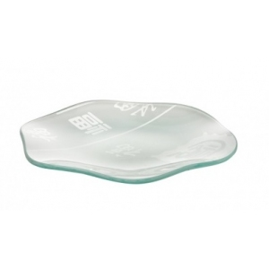 Тарелка D 20 см Corone Aqua с волнистым краем, стекло