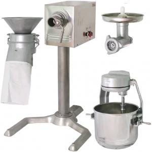 Машина универсальная кухонная напольная: насадки (мясорубка ММ+миксер планетарный ВМ+просеиватель МП-01), привод ПМ, подставка П-01, нерж.сталь