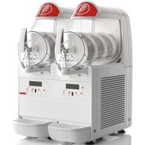 Фризер для мягкого мороженого и слаша настольный, 2 узла раздаточных, 2 ванны 6л, белый, охл.воздушное (б/у (бывший в употреблении))