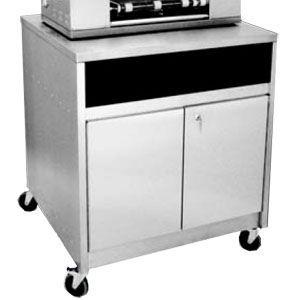 Подставка под аппарат блинный автоматический РК-2.1,  870х840х900мм, закрытая, двери распашные, нерж.сталь  (Уценённое)