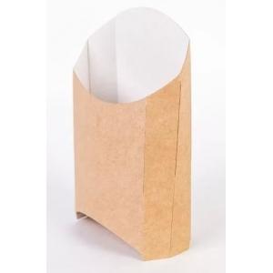 Коробка для картофеля фри 120X54X150мм Крафт бумага ГЕОВИТА ECOFRY-L