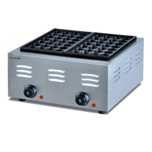 Вафельница электрическая настольная для вафель «гонконгских», 2 сегмента прямоугольных чугун антиприг., 56шт., упр.электромех. (Уценённое)