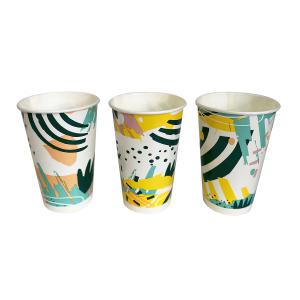 Стакан бумажный для холодных напитков Гавайи 300мл Флексознак Н0000031998