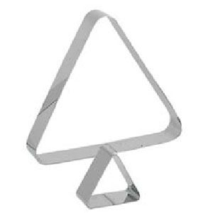 Кольцо (форма) ТРЕУГОЛЬНИК ГЕО L 6,5см w 6,5см h 4см, нерж.сталь