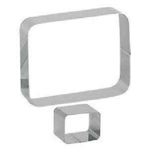 Кольцо (форма) ПРЯМОУГОЛЬНИК ГЕО L 7см w 5см h 4см, нерж.сталь