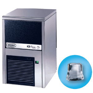 Льдогенератор для кускового льда,  24кг/сут, бункер 6.0кг, возд.охлаждение, корпус нерж.сталь, форма «кубик» A