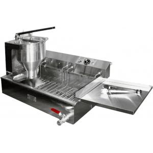 Аппарат пончиковый полуавтоматический,  300шт/ч, ванна 12л, нерж.сталь+алюминий, объем пончика 20-54г (плунжерная пара D30мм), привод механический