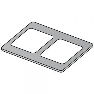 Накладка на плиту электрическую серии Macros 700, на 2 квадратные конфорки, чугун