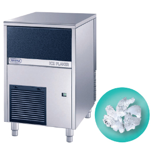 Льдогенератор для гранулированного льда,   90кг/сут, бункер 20.0кг, вод.охлаждение, корпус нерж.сталь