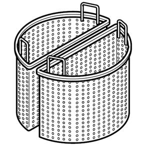 Корзина для котла пищеварочного серии Macros 700, 340х340х345мм, полукруглая, комплект 2шт.