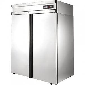 Шкаф холодильный, GN2/1, 1400л, 2 двери глухие, 8 полок, ножки, 0/+6С, дин.охл., нерж.сталь