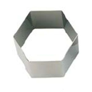 Кольцо (форма) ШЕСТИУГОЛЬНИК D 7см h 4,5см, нерж.сталь