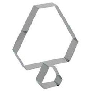 Кольцо (форма) ГРАНЕНЫЙ ТРЕУГОЛЬНИК L 6см w 6см h 4см, нерж.сталь