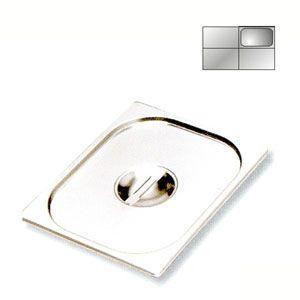 Крышка для гастроемкости GN1/4, нерж.сталь