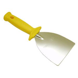 Лопатка (скребок) прямая L 10см широкая, нерж.сталь