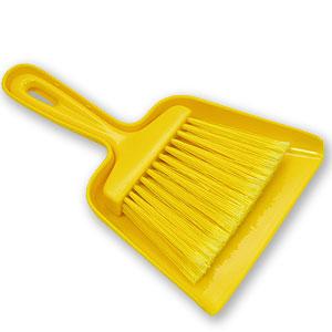 Щетка + совок (набор), пластик желтый