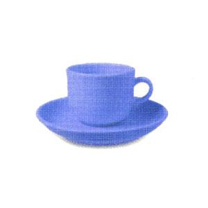 Чашка 240мл + блюдце ARYA, голубой