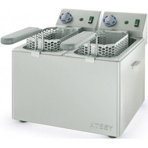 Фритюрница электрическая, 2 ванны GN1/3-200, настольная, 2 корзины