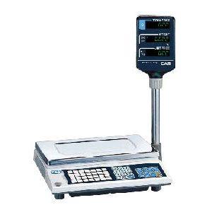 Весы электронные торговые, настольные, ПВ 0.02-6.00кг, платформа 340х215мм, подключение от сети, корпус пластик, дисплей на стойке