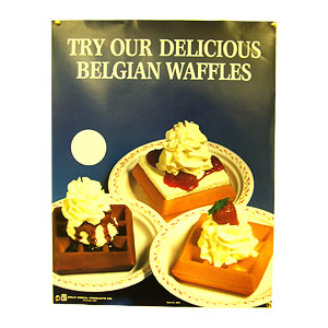 2000 - плакат «BELGIAN WAFFLE» GOLD MEDAL PRODUCTS 2000