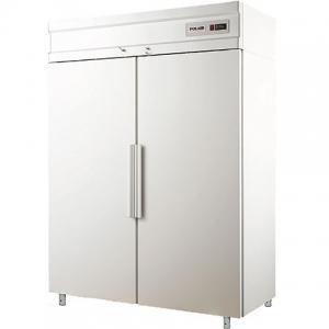Шкаф комбинированный, GN2/1, 1400л, 2 двери глухие, 8 полок, ножки, -18С и 0/+6С, дин.охл., белый
