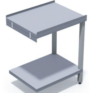 Стол выходной для машин посудомоечных HT, L0.65м, 2 борта, 1 полка сплошная, 2 ножки, нерж.сталь
