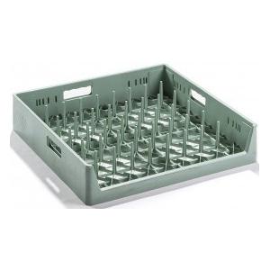 Корзина посудомоечная для подносов, 500х500мм, пластик зеленый, вместимость 8шт.