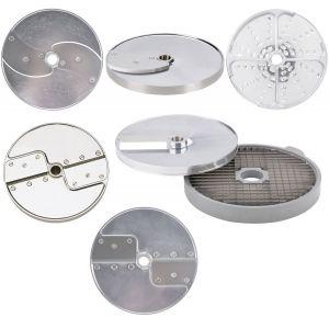 Комплект дисков-ножей для овощерезки-куттера R502, R602 и овощерезки CL50, CL50 Ultra, CL52, CL55, CL60, 7 шт.