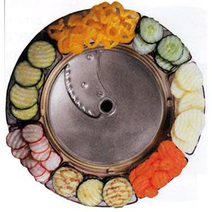 Диск-слайсер для овощерезки-куттера R502, R652 и овощерезки CL50, CL50 Ultra, CL 52, CL 55, CL 60, CL 50 Gourmet, кружочки и колечки, срез волна 5мм