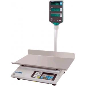 Весы электронные торговые, настольные, ПВ 0.04-15.0кг, платформа 215х340мм, подключение от сети, корпус поастик, дисплей на стойке