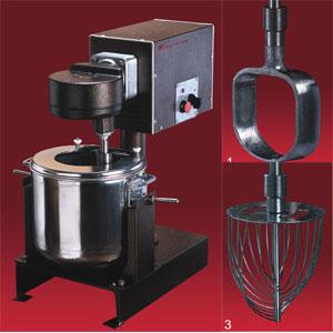 Машина универсальная кухонная напольная: насадка (тестомес ВМ-02), привод ПМ, подставка П-03, нерж.сталь