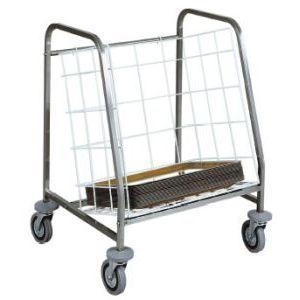 Тележка транспортировочная для подносов, 130шт., каркас нерж.сталь