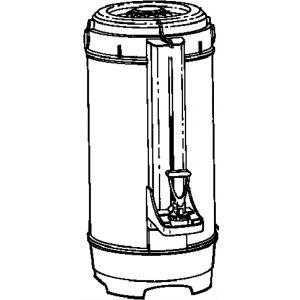 Термос для кофемашин ICB-300/400, 6.6л, нерж.сталь+пластик