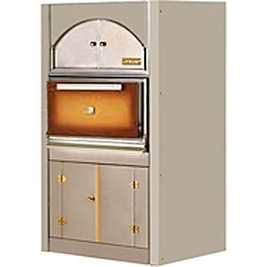 Гриль на углях, 1 решетка 500х510мм, подставка закрытая, дверь коричневая, зольник, полка верхняя закрытая