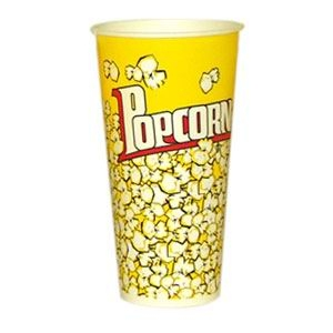 V 24 «Желтый», стакан бумажный для попкорна