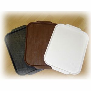 Поднос L 45см w 35,5см прямоугольный, пластик (белый)