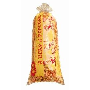(100шт) Пакет полиэтиленовый для попкорна, трехцветный рисунок (Heap-O-Corn)