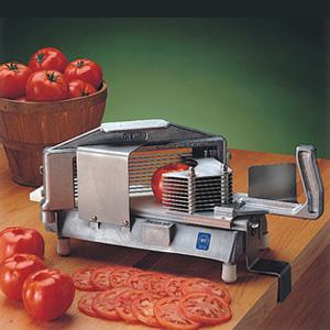 Овощерезка-слайсер механическая для томатов, настольная, кружочки (срез 6.0мм), горизонтальная резка