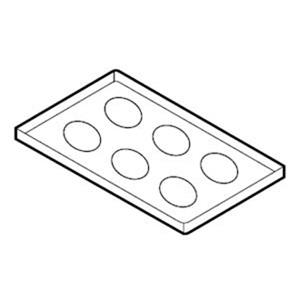 Противень для жарки омлета для пароконвектомата, 530х325мм, алюминий, антипригарное покрытие, 6 ячеек