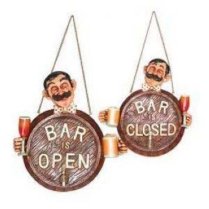 Вывеска BAR OPEN/CLOSED (БАР ОТКРЫТО/ЗАКРЫТО) L 29,21см w 10,16см h