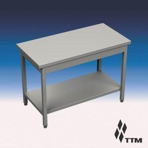 SR-080/7P - стол рабочий усиленный, без борта, полка